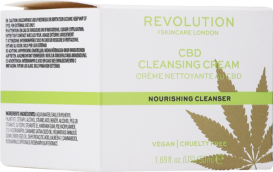 Почистващ крем за лице - Revolution Skincare CBD Cleansing Cream — снимка N1