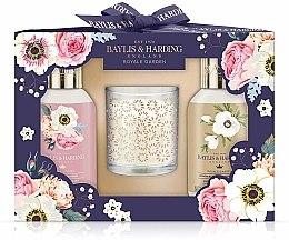 Парфюми, Парфюмерия, козметика Комплект - Baylis & Harding Royale Garden Set (душ гел/100ml + душ крем/100ml + свещ)