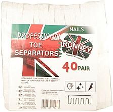 Парфюмерия и Козметика Разделители за педикюр, 80 бр. - Ronney Professional Toe Separators