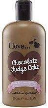 Парфюмерия и Козметика Душ крем и пяна за вана с аромат на шоколадов фъч - I Love... Chocolate Fudge Cake Bubble Bath And Shower Creme