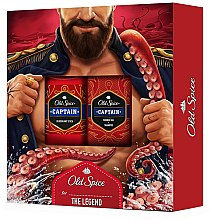 Парфюми, Парфюмерия, козметика Комплект за тяло - Old Spice Captain For The Legend (део/50g + душ гел/250ml)