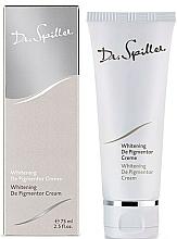Парфюмерия и Козметика Изсветляващ крем за лице срещу пигментация - Dr. Spiller Whitening De Pigmentor Cream