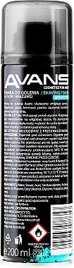 Пяна за бръснене - Avans Sensitive — снимка N2