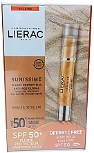 Парфюмерия и Козметика Слънцезащитен комплект за лице - Lierac Sunissime (флуид/40ml + околоочен балсам/3g)