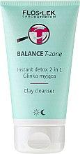 Парфюмерия и Козметика Почистваща глина за лице - Floslek Balance T-zone Instant Detox 2in1 Clay Cleanser