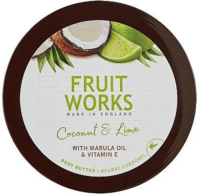 "Масло за тяло ""Кокос и Лайм"" - Grace Cole Fruit Works Body Butter Coconut & Lime — снимка N1"