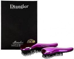 Парфюмерия и Козметика Комплект четки за коса - KayPro Dtangler Miraculous Purple (2xbrush)