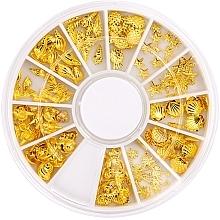 Парфюмерия и Козметика Декорации за маникюр в органайзер - Peggy Sage Carousel For Nail Decorations Summer Gold