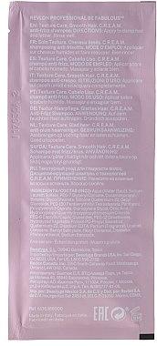 Изглаждащ шампоан за коса - Revlon Professional Be Fabulous Texture Care Smooth Shampoo (мостра) — снимка N2