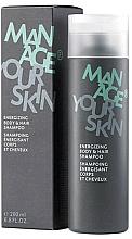 Парфюмерия и Козметика Енергизиращ шампоан за коса и тяло за мъже - Dr. Spiller Manage Your Skin Energizing Body & Hair Shampoo