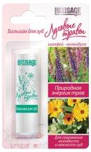 Парфюмерия и Козметика Балсам за устни, градински чай и невен - Luxvisage