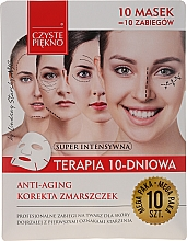 "Парфюмерия и Козметика Маска за лице ""10-дневна терапия -Подмладяване"" - Czyste Piekno Anti-age Therapy 10 Days"