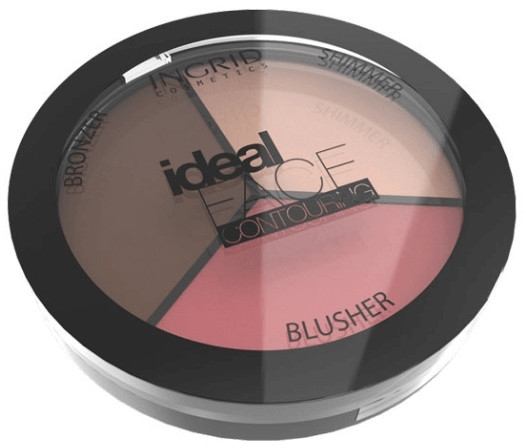 Палитра за контуриране за лице - Ingrid Cosmetics Ideal Face Foundation