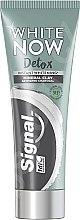 Парфюмерия и Козметика Избелваща паста за зъби с активен въглен - Signal White Now Detox Toothpaste