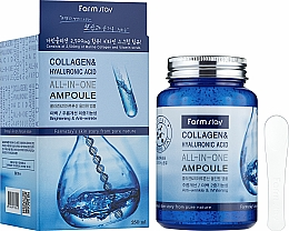 Парфюмерия и Козметика Ампулен серум за лице с колаген и хиалуронова киселина - FarmStay Collagen & Hyaluronic Acid All-In-One Ampoule