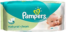 Парфюми, Парфюмерия, козметика Детски мокри кърпички - Pampers Natural Clean Wipes