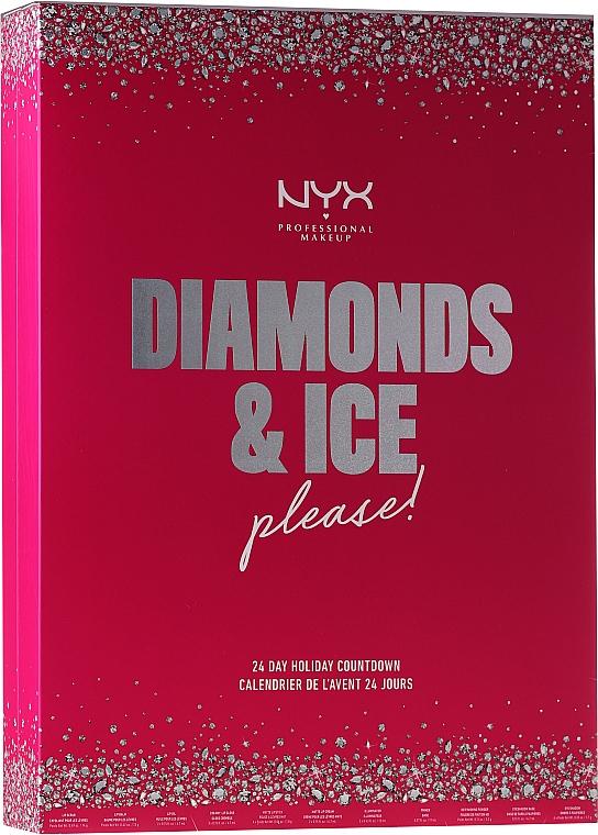 Козметичен адвент календар - NYX Professional Makeup Diamond & Ice Advent Calendar Makeup Set