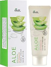 Парфюмерия и Козметика Крем за ръце с екстракт от алое - Ekel Natural Intensive Aloe Hand Cream