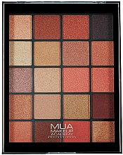 Парфюмерия и Козметика Палитра сенки за очи - MUA 20 Shade Eyeshadow Palette