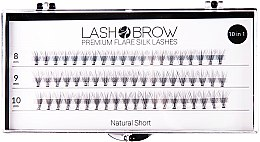 Парфюми, Парфюмерия, козметика Изкуствени мигли - Lash Brown Premium Flare Silk Lashes Natural Short