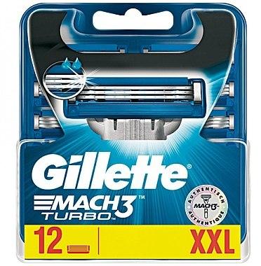 Сменяеми ножчета за бръснене, 12 бр. - Gillette Mach3 Turbo — снимка N2