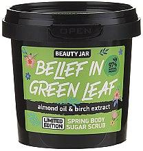 Парфюми, Парфюмерия, козметика Захарен скраб за тяло - Beauty Jar Belief In Green Leaf Spring Body Sugar Scrub