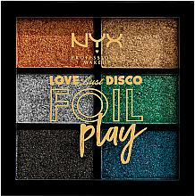 Парфюмерия и Козметика Палитра пигменти за грим - NYX Professional Makeup Love Lust Disco Foil Play Pigment Palette