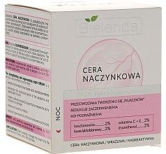 Парфюми, Парфюмерия, козметика Нощен укрепващ и регенериращ крем за лице - Bielenda Capillary Skin Face Cream