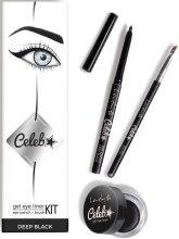 Парфюми, Парфюмерия, козметика Комплект молив за очи, гелообразна очна линия и четка - Lovely Celeb Kit