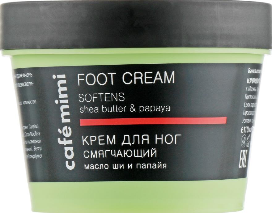 Омекотяващ крем за крака с масло от шеа и папая - Cafe Mimi Foot Cream Softens