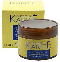 Парфюми, Парфюмерия, козметика Подхранващ крем за лице - Phytorelax Laboratories Shea Butter 24-hours Face Cream