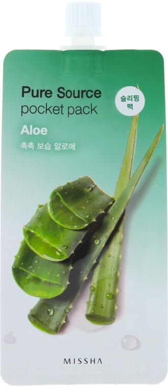 Нощна маска с екстракт от Алое Вера - Missha Pure Source Pocket Pack Aloe