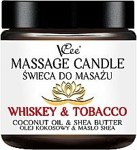 """Парфюмерия и Козметика Масажна свещ """"Уиски и тютюн"""" - VCee Massage Candle Whiskey & Tobacco Coconut Oil & Shea Butter"""