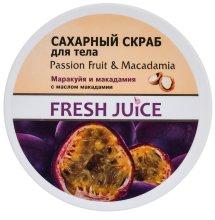 Парфюмерия и Козметика Захарен скраб за тяло с маракуя и макадамия - Fresh Juice Passion Fruit & Macadamia