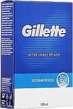 """Парфюмерия и Козметика Афтършейв """"Пикантен"""" - Gillette Blue Storm Force After Shave Splash"""