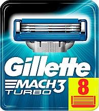 Парфюми, Парфюмерия, козметика Сменяеми ножчета за бръснене, 8 бр. - Gillette Mach3 Turbo