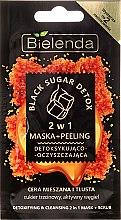 """Парфюмерия и Козметика Маска-пилинг """"2 в 1 детокс-почистване"""" - Bielenda Black Sugar Detox (мини)"""