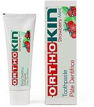 Парфюми, Парфюмерия, козметика Ортодонтска паста за зъби за брекети - Kin Ortho Strawberry Mint Toothpaste
