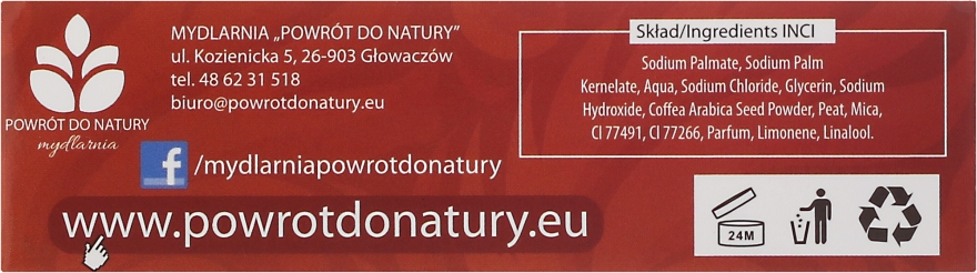 "Натурален сапун ""Кал и кафе"" - Powrot do Natury Natural Soap Mud and Coffee — снимка N3"