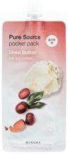 Парфюмерия и Козметика Нощна маска за лице с масло от ший - Missha Pure Source Pocket Pack Shea Butter