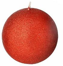 Парфюмерия и Козметика Декоративна свещ, топка, червена, 8 см - Artman Glamour