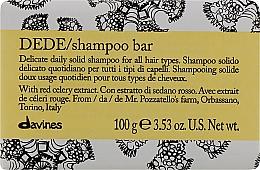 Парфюмерия и Козметика Деликатен твърд шампоан за всеки тип коса за ежедневна употреба - Davines Shampoo Bar