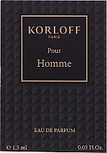 Парфюмерия и Козметика Korloff Paris Pour Homme - Парфюмна вода (мостра)
