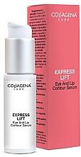 Парфюмерия и Козметика Серум за околоочния контур и устни - Collagena Code Express Lift Eye And Lip