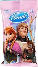 "Парфюми, Парфюмерия, козметика Мокри кърпички ""Frozen"", 15бр, Анна и Кристоф - Smile Ukraine Disney"