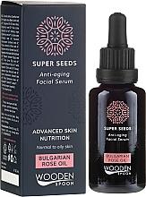 Парфюмерия и Козметика Серум за лице - Wooden Spoon Super Seeds Bulgarian Rose Oil Anti-aging Facial Serum