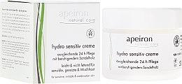 Парфюмерия и Козметика Хидратиращ крем за чувствителна кожа - Apeiron Hydro Sensitiv Cream 24h