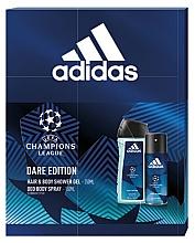 Парфюмерия и Козметика Adidas UEFA Dare Edition - Комплект за тяло (душ гел/250ml + део спрей/150ml)