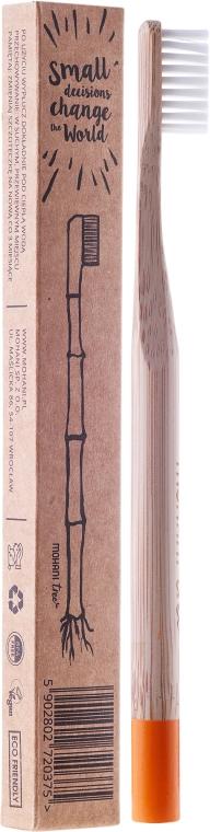 Бамбукова четка за зъби, мека, оранжева - Mohani Toothbrush — снимка N1