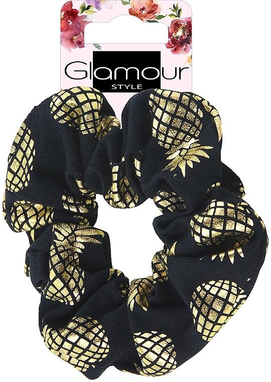 Ластик за коса, 417609, златисто-черен - Glamour